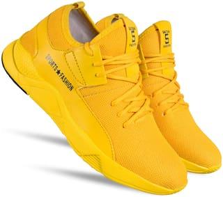 SPAIN Men Yellow Casual Shoes - SPN-YEL-FS-10