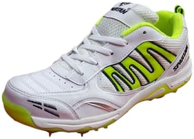 Spartan 2018 Extreme White Green Cricket Shoes Spikes