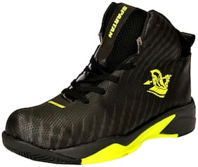 Spartan Black Yellow Power Basketball Shoes