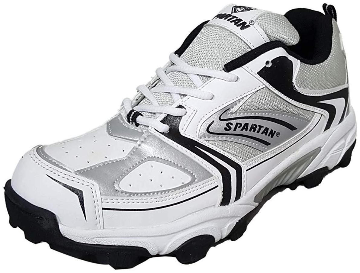 Spartan Men Cricket Shoes ( White ) for