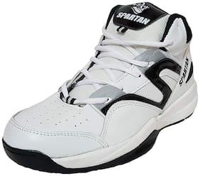 Spartan Men Basketball Shoes ( White )