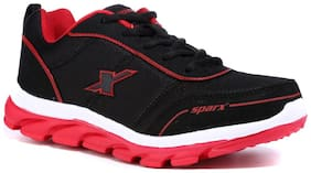 Sparx Men's Black & Red Running Shoes (SM-277)