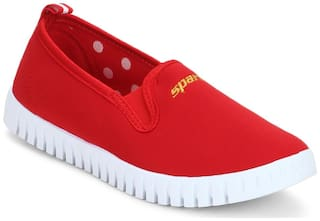 Sparx Women's Red & White Sneakers (SL-86)
