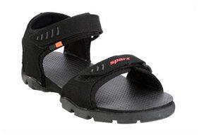 Sparx Black Sandals