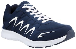 Sparx Men's Blue & White Running Shoes (SM-276)