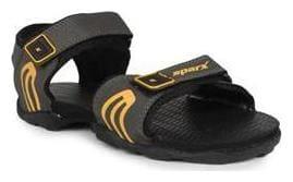 Sparx Men's Olive & Yellow Sandal (SS-702)