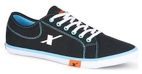 Sparx Men Black Skyblue Sneakers (SM-283)