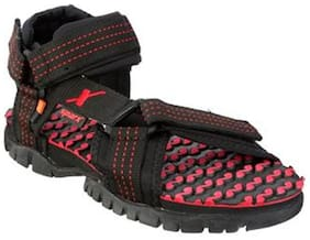 Sparx Men's Black & Red Sandal (SS-202)