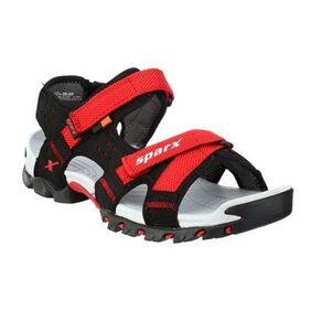 Sparx Men's Black & Red Sandal (SS-447)