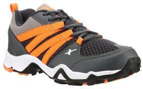 Sparx Men's Grey & Orange Running Shoes (SM-284)
