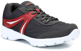 Sparx Men's Grey & Red Running Shoes (SM-300)