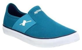 Men Blue Slip-On Sneakers