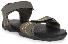 Sparx Men's Olive & Yellow Sandal (SS-703)