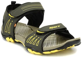 Sparx Men Olive & Yellow Floater Sandals