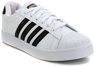Sparx Men's White & Black Sneakers (SM-323)