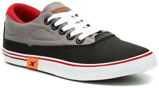Sparx Men's Black & Grey Sneakers (SM-322)