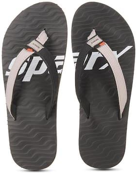 Sparx Men Black Flip-Flops -