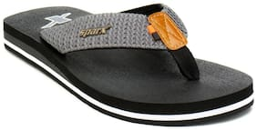 Sparx Men's Black & Grey Slipper (SFG-2080)