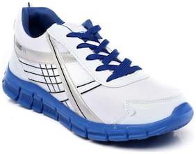 Sparx Men's White & Blue Running Shoes (SM-200)