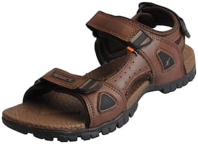 Sparx Men's Tan Outdoor Athletic and Sports Sandals