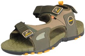 Sparx Men's Olive Yellow Athletic and Outdoor Sandals