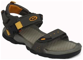 Sparx Men's Olive & Yellow Sandal (SS-502)