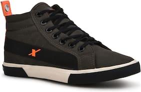 Men Grey High Top Sneakers