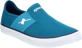 Men Blue Slip-On Sneakers