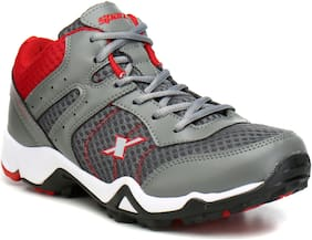 Sparx Men SM-319 Grey Red Sports Shoes