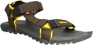 Sparx Men SS-477 Olive Yellow Sandals