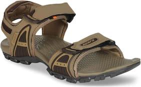 Sparx Men SS-492 Camel Brown Floater Sandals
