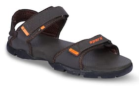 Sparx Men SS-119 Brown Orange Sandals