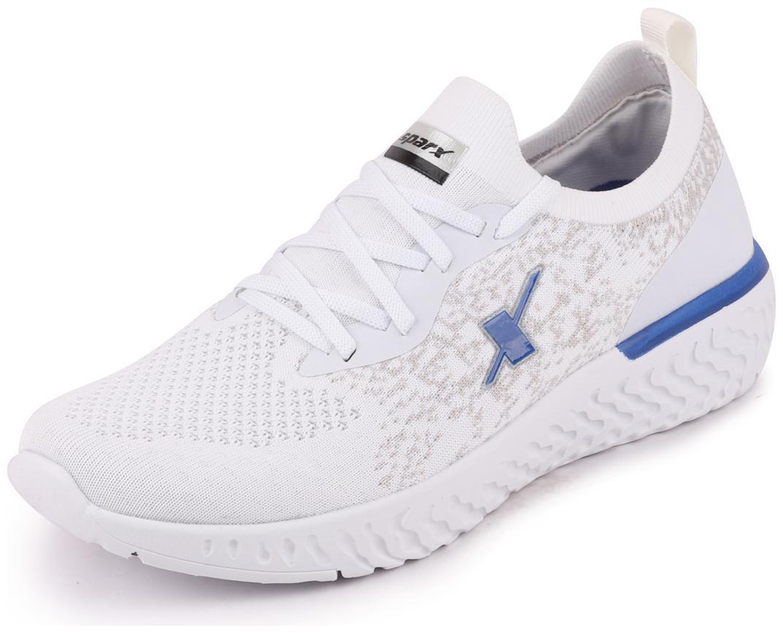 Sparx Men SM-443 WHITE R.BLUE Running