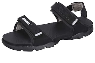 0f0b050c1274 Buy Sparx Men Black Sandals   Floaters Online at Low Prices in India ...