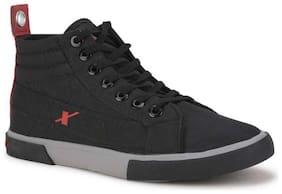 Men Black High Top Sneakers