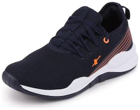 Sparx Men SM 614 N.BLUE NEON ORANGE Running Shoes ( Blue )