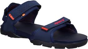 Sparx Men SS-119 Navy Blue Red Sandals