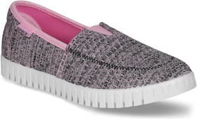 Sparx Women Grey Slip-On Shoes