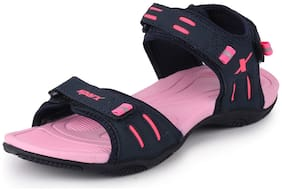 Sparx Women Navy Blue & Pink Floaters