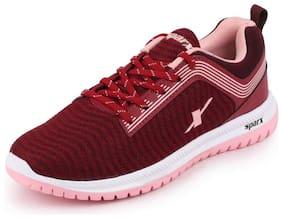 Sparx Women SL 164 BURGANDY B.PINK Running Shoes ( Red )