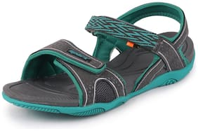 Sparx Women Grey & Green Sandals