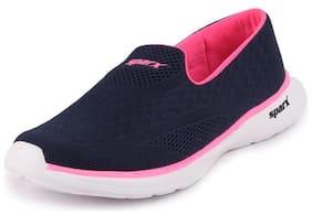 Sparx Women SL 165 NAVY BLUE PINK Walking Shoes ( Blue )