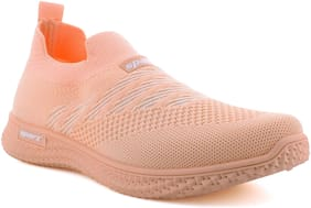 Sparx Women Peach Slip-On Shoes