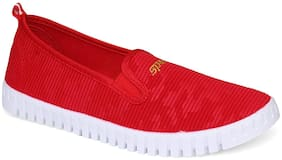 Sparx Women Red Slip-On Shoes