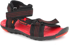 Sparx Women Black & Red Floaters