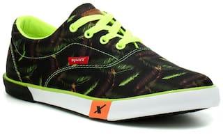 Sparx Women Black & Green Sneakers