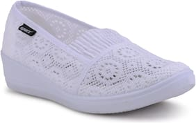 Sparx Women White Slip-On Shoes
