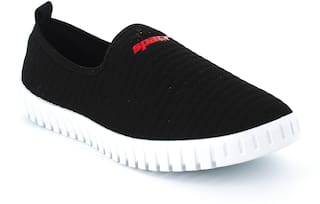 Sparx Women Black & Red Slip-On Shoes