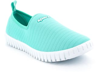 Sparx Women Green & White Slip-On Shoes