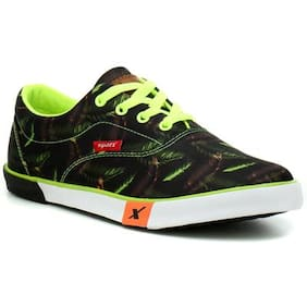 Sparx Black & Green Sneakers & Sports Shoes